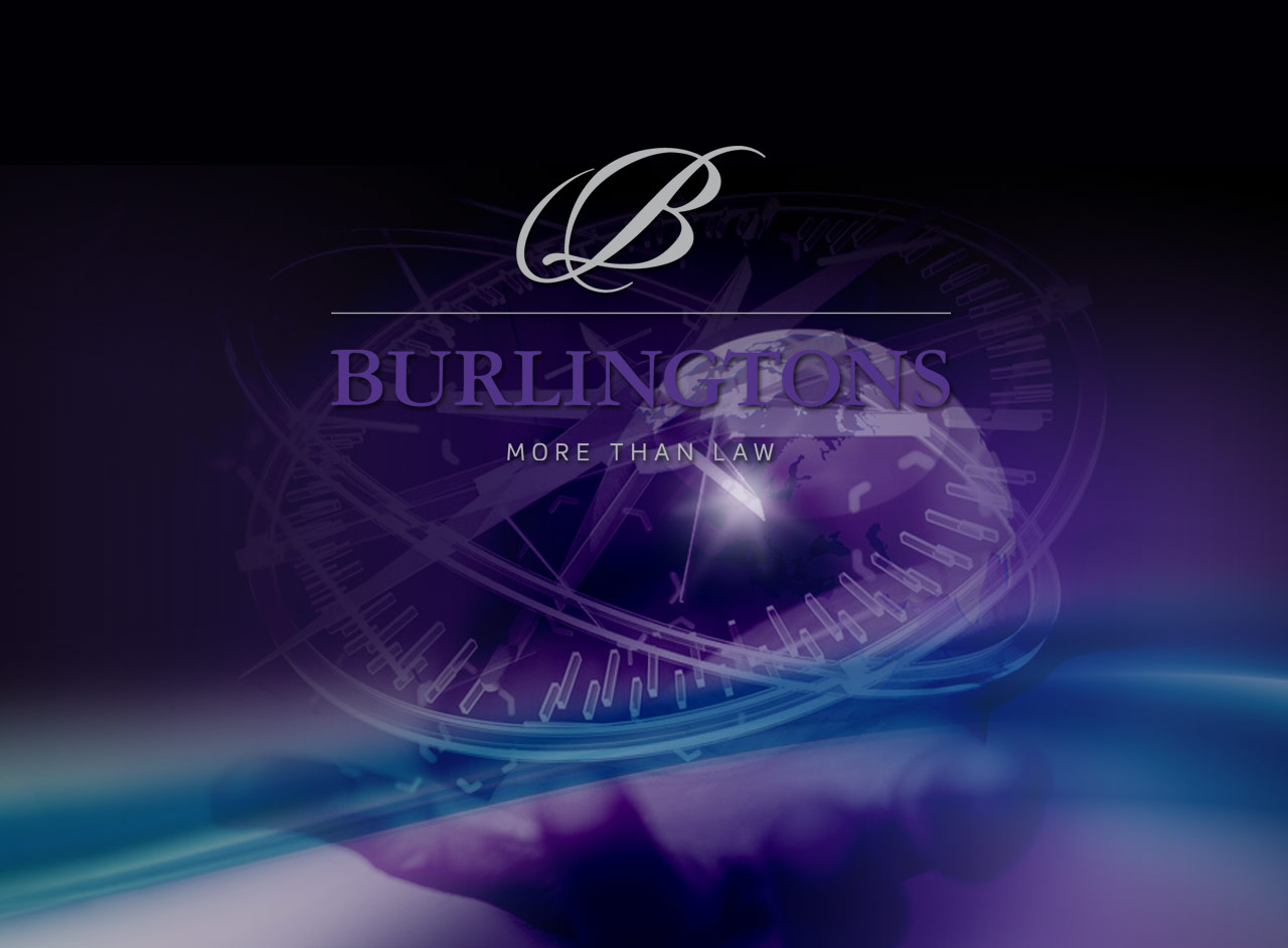 Burlingtons Legal housestyle, web design, development & maintenance and brand development