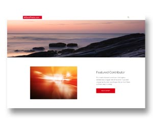 Photo library website design