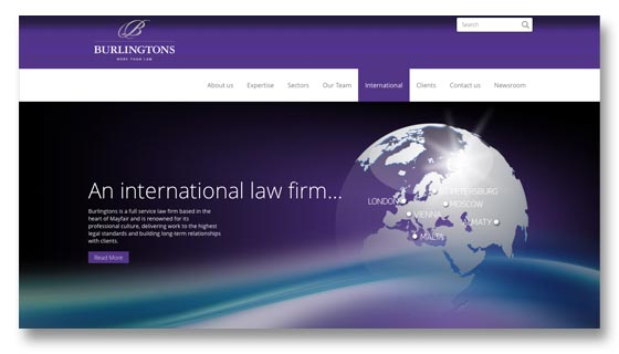 Website design for London law firm