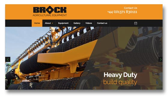 Agricultural equipment manufacturers website design