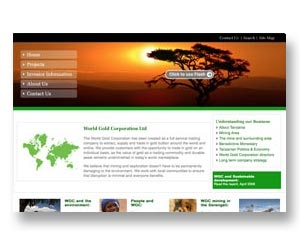 Gold & Mining company website design